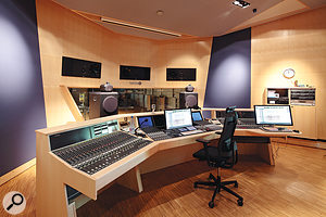 Teldex's control room houses a  Studer 980 desk with an Avid 5–MC controller.