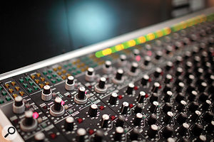 Most preamp duties are handled by the input section of the Studio 980 console.