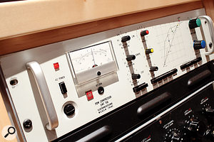 The outboard collection includes vintage units such as the ubiquitous Fairchild 670 and this EMT 156 compressor.