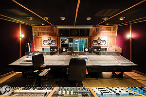 The Studio A  control room houses one of the largest SSL J–series consoles in the world.