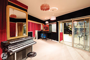 As well as the huge main live area, Studio A  also boasts four capacious booths.