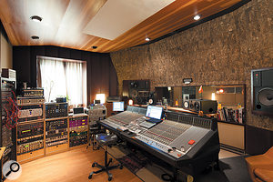 The control room is centred around a  40-input SSL J-Series console.