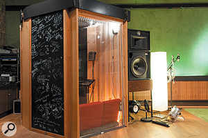 The 150-square-metre live room includes three isolation booths.