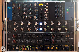 The outboard collection includes industry-standard preamps, EQs and dynamics by API, TK Audio, A  Designs, Vintagedesign and many more, along with more unusual units such as the Ursa Major Space Station.