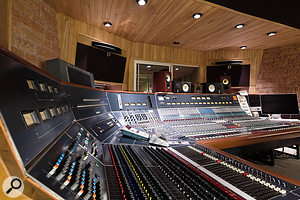 La Frette's custom Neve desk is equipped with 36 1081 input modules.