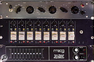 Unusual outboard at La Frette includes a Pultec MEQ5 equaliser and eight Langevin AM16 preamps.