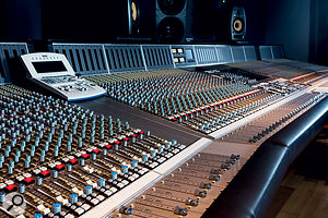 The control room is based around an SSL 9000 J-Series console.