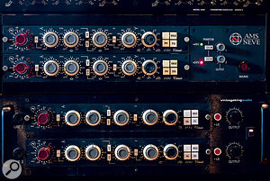 The SSL preamps and EQs are complemented by these vintage Neve units.