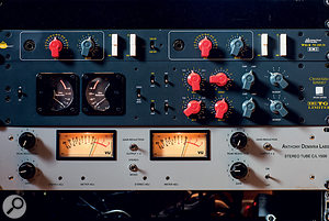 Further tasty outboard goodies include Chandler TG preamps and compressor, and an ADL stereo compressor.