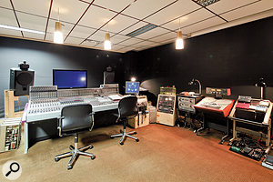 Studio 2 features a relatively modern Studer desk, augmented by a smaller vintage Neumann 10:2 mixer.