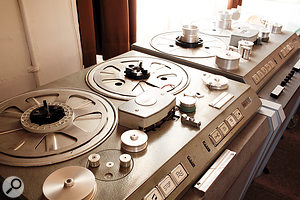 The original Studer tape machines include a two-channel C37 and four-channel J37.