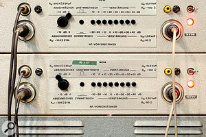 An incredibly rare pair of vintage STW valve preamps.