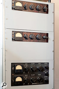 As well as European-made outboard, there is also a pair of Fairchild 660 limiters and a Fairchild 670.
