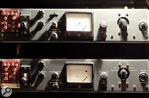 Two of the three Rohde & Schwarz valve limiters in Studio 1.
