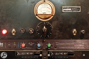 A Federal AM864/U valve limiter in the outboard rack of Studio 2.