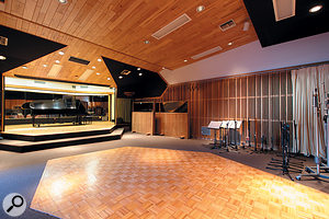 Studio D's live area is the largest of all the Westlake rooms.