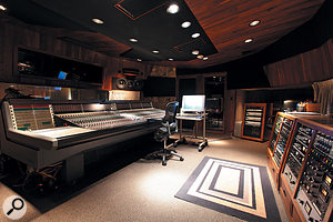 The control room in Westlake Studio A incorporates many of Tom Hidley's technological advances — and vast amounts of walnut panelling.