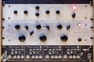 Rare Pultec Mavec and Stereo Panner SP-3 units in Studio A.