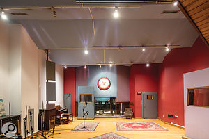 Studio A's spacious live room.