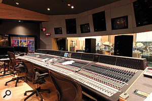 The centrepiece of the studio is an AMS-Neve 88RS console with 96 input channels, designed to be compatible with the desks at Sony/MGM and Abbey Road.