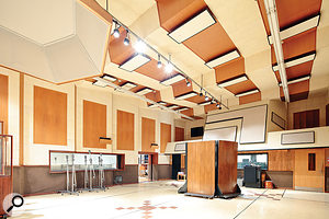 Studio B's live room is regarded as one of the best spaces in the world for recording.