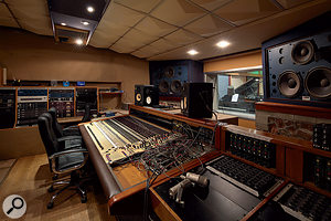 The Quadrangle control room is based around an MCI desk and large quantities of outboard gear.