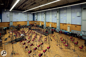 Abbey Road Studio 1 is one of the few remaining purpose-built recording spaces able to accommodate afull symphony orchestra, and many classic film scores have been tracked here.