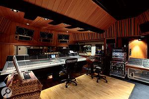 Studio D's control room.