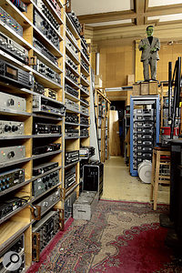A glimpse into the Village Recorders equipment store.