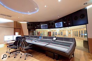 Studio 1's control room is based around a massive Neve 88R console.