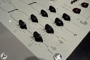 A close-up of the REDD.51 desk showing its simple but effective channel EQ.