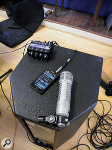 Although I'd prepared a click track in Pro Tools, in the event, it proved simpler for the band to continue using the smartphone metronome app they'd employed in rehearsal. I fed this only to whichever instrumentalist was leading the rhythm of a song.