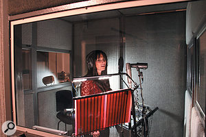 Placing the vocal booth in the middle of the live room afforded excellent communication between Lyndsey and the band, yet achieved good separation on her vocal recordings.