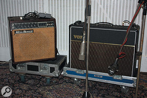 Nearly all the sources were double-miked, including Tom Misner's Vox AC30.