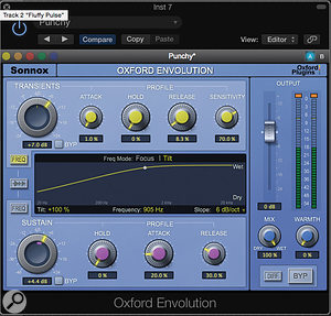 Oxford Envolution's ability to target or weight its response to different areas of the frequency spectrum greatly increases its versatility.