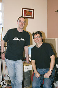 Chris Walker (right) with band-mate and studio collaborator Geoff Coates.