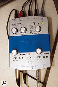 Since a computer upgrade, Ray had been unable to get his Tascam US122B audio interface to work, so he'd been using his computer's built-in soundcard, with less than ideal results. Installing the latest Tascam drivers did the trick.