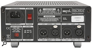 Inputs and outputs are available on analogue XLR connectors. Helpfully — as with other SPL units — the legending on the rear is presented 'both ways up'.