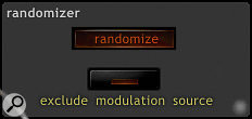 The Randomise button provides a surprisingly effective way of programming Scanned Synth Pro.