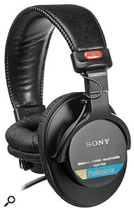 Sony's humble MDR-7506 headphones are transformed by Sonarworks' calibration process.