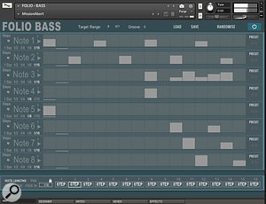 Folio Bass has some rather cool features hidden away on its Gate and Arp pages.