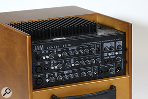 Among the extras offered by the Jam compared with the David are a  polarity invert switch for channel 1, and an effects send and return.