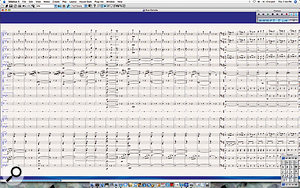 Panorama View is a beautiful new way to look at your score on one giant page, without having having to worry about staff and page breaks. The music flows from left to right, and Sibelius even adds ghost symbols in blue to show you the current clefs, key signatures and bar numbers for the staves. You will want a bigger monitor once you see this!