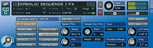 The Speed control allows the tempo of the phrase‑based patches to be matched to the host project.