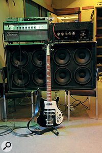 Before Jez Coad and Eddie Duffy settled on the AC30/Wallace bass setup they experimented by combining the Wallace with an Ampeg amp.