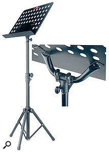 Is it an orchestral music stand, or is it the perfect supporting act for a laptop on stage? Amazingly, it's both — and for pocket money.