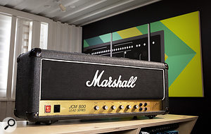 The very first device that Softube set out to model was this Marshall JCM800 valve amp head.