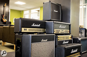 The Softube offices display ample evidence of their ongoing collaboration with Marshall.