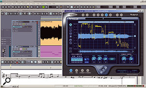 A difficult, intricate vocal line is tracked by V-Vocal 1.5, and a reasonably faithful MIDI performance derived from it.