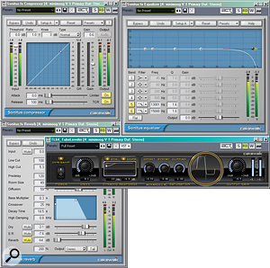 These four processors make up atrack template that's optimised for processing synths.